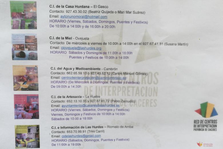 Centros de Interpretación de Las Hurdes (Extremadura)