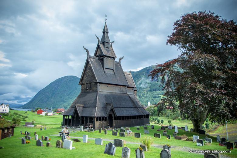 Iglesia Hopperstad Vik Fiordos Noruegos