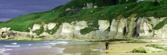 Playa de Portrush en Irlanda del Norte
