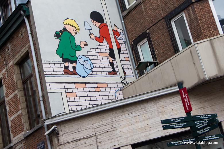 Murales de cómic en Bruselas (Bélgica)