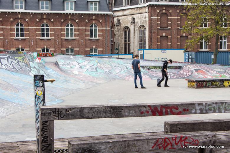 Skaters en Bruselas (Bélgica)