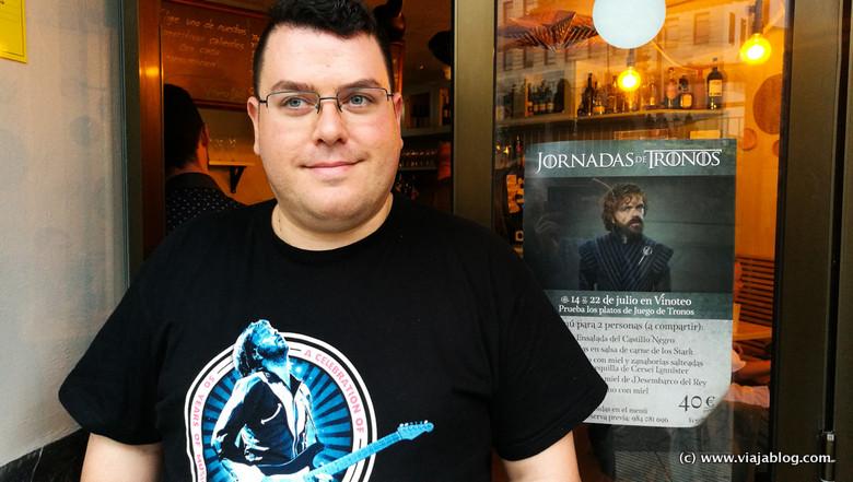 Juanjo Cima, frikie de Juego de Tronos y organizador de las Jornadas de Tronos, Restaurante Vinoteo