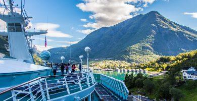Skjolden desde el Monarch, Pullmantur Cruceros, Fiordos del Norte en Noruega