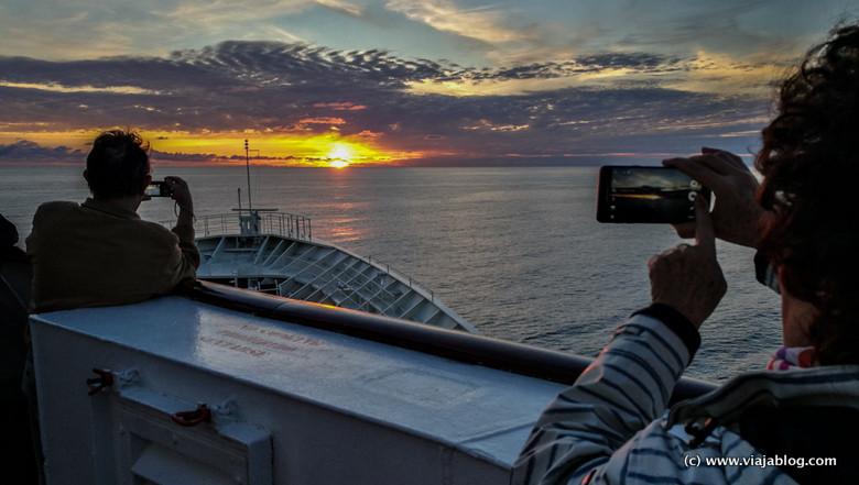 Puesta de sol, Pullmantur Cruceros, Fiordos del Norte en Noruega