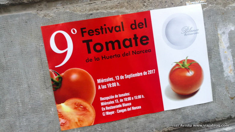 Cartel del Festival de Tomate de la Huerta de Cangas del Narcea