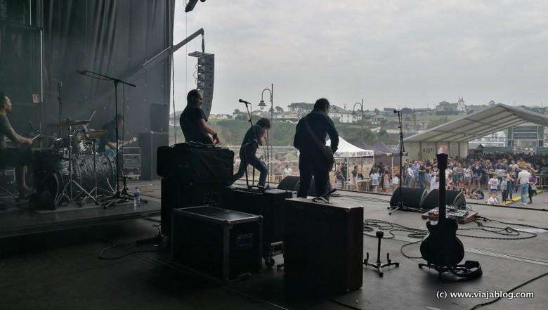 Escenario Festival Unirock Puerto de Vega