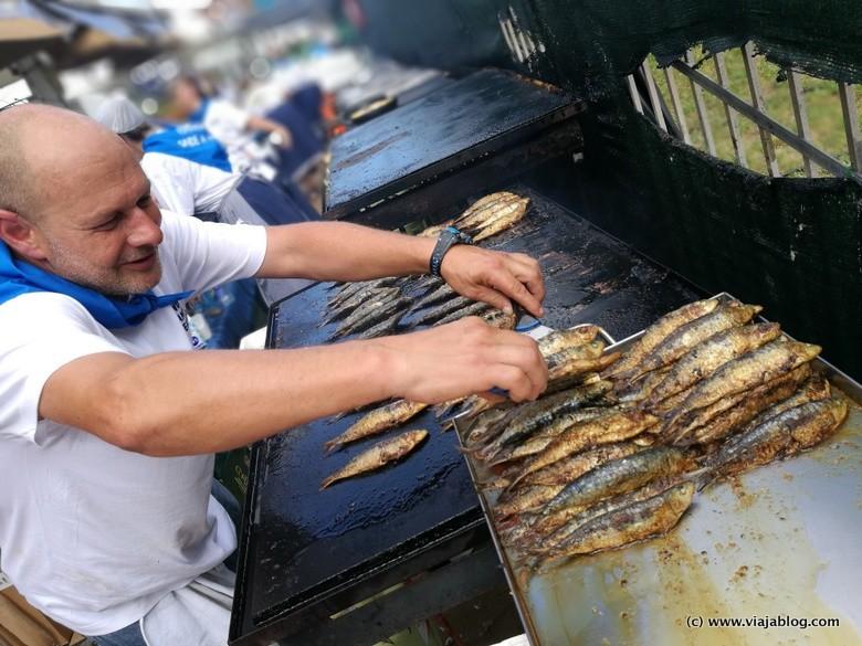 Sardinas a la plancha, Festival de la Sardina de Candás (Asturias)