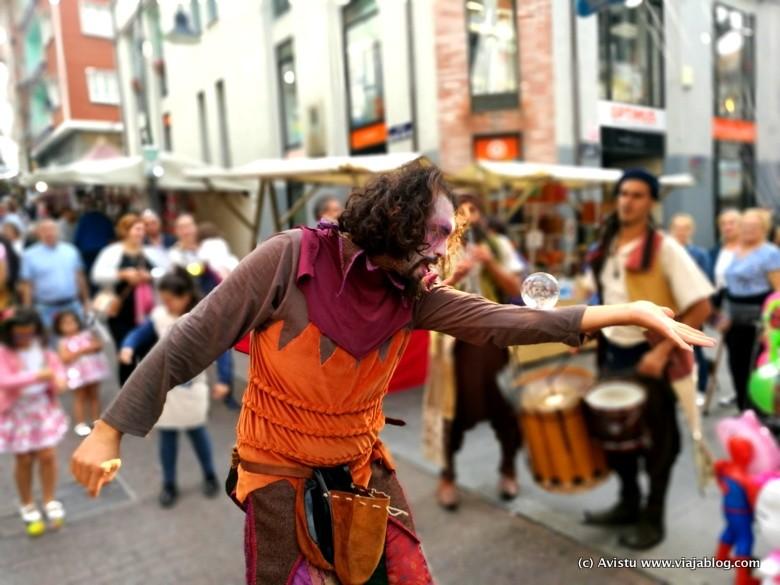 Animación callejera, Festival Vendimia Cangas de Narcea, Asturias
