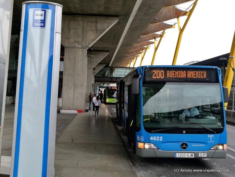 Autobús Línea 200 Madrid Aeropuerto