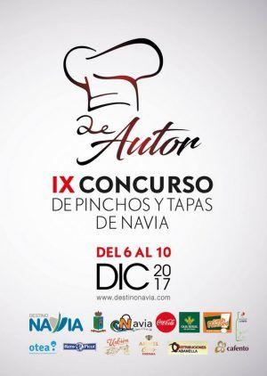 Cartel Concurso de Pinchos y Tapas de autor de Navia