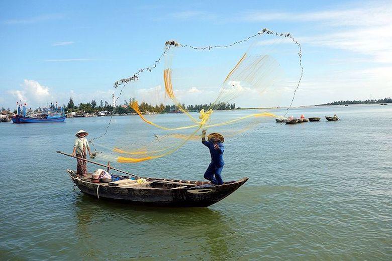 Pescadores en la zona de Hoi An