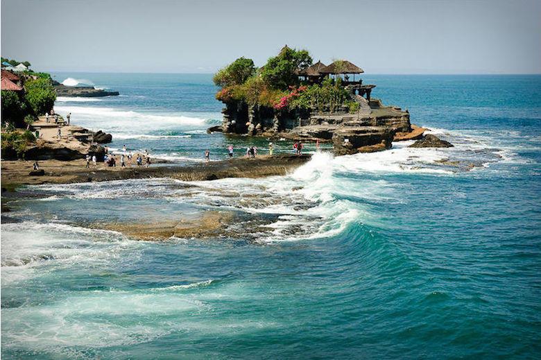 Pura Tanah Lot en Bali (Indonesia)