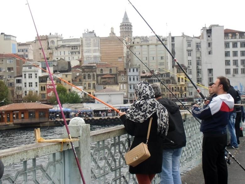 Pescadores del Gálata Estambul