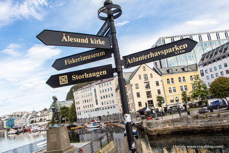 Indicador Callejero, Alesund, Noruega