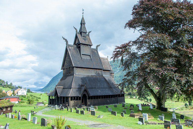 Stavkirke Iglesias Madera Noruega