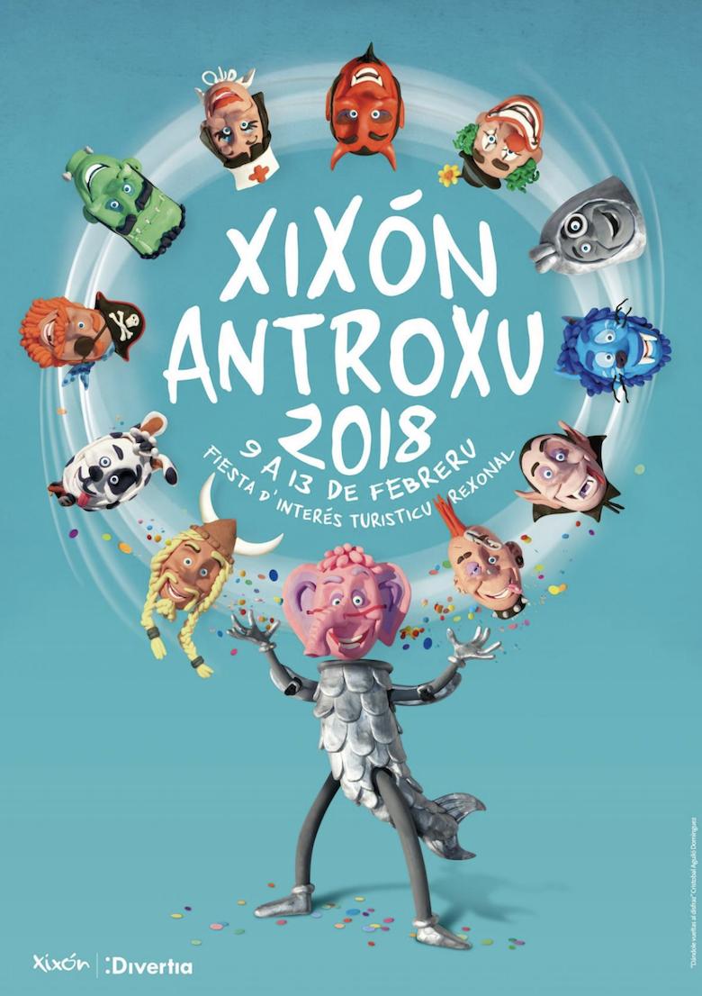Cartel Antroxu Gijón