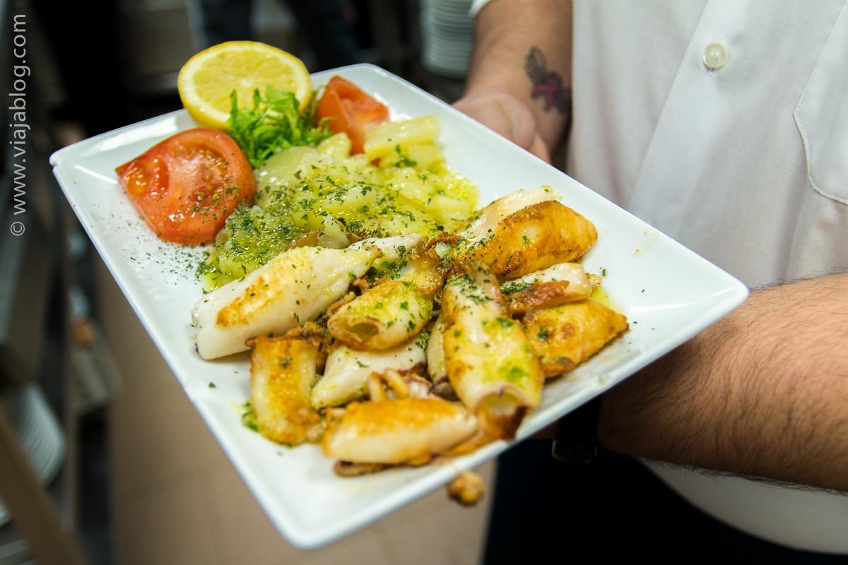Chipirones del Restaurante Asturiano Sidrería El Ñeru en Madrid