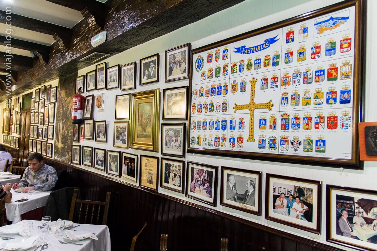 Pared del Restaurante Asturiano Sidrería El Ñeru en Madrid
