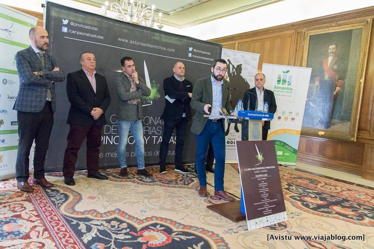 D. Manuel Ángel Campa, Concejal Responsable del Área de Promoción Económica y de Ciudad de Avilés en la presentación del XI Campeonato de Pinchos y Tapas de Asturias