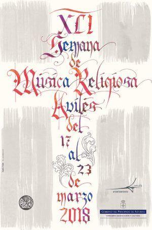 Cartel XLI Semana de Música Religiosa de Avilés
