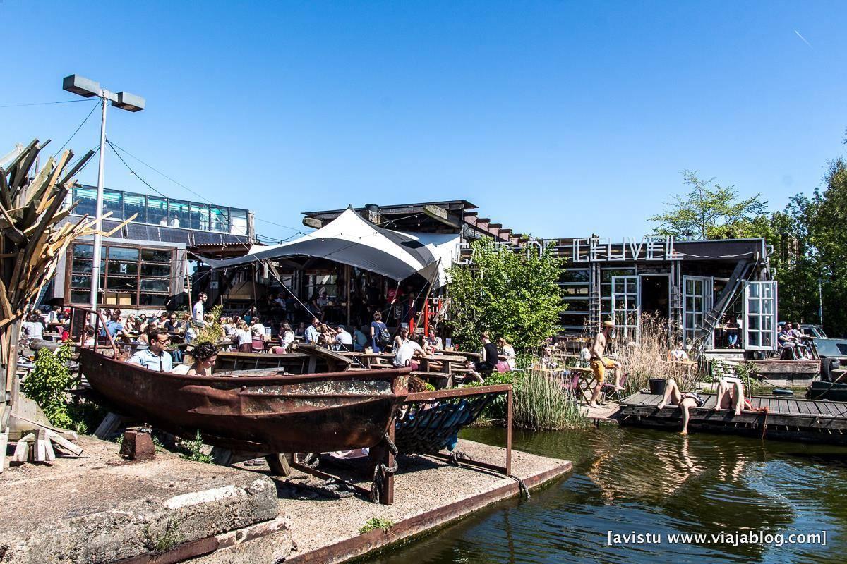 Café de Ceuvel en Amsterdam