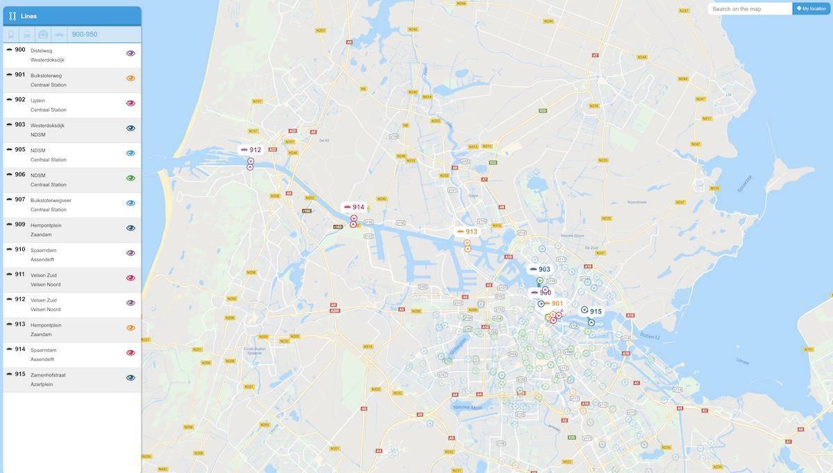 Líneas de Ferri en Amsterdam