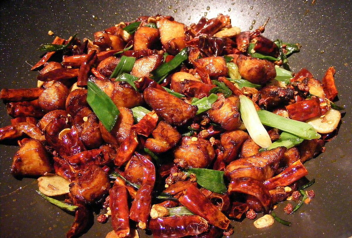 Pollo picante chino
