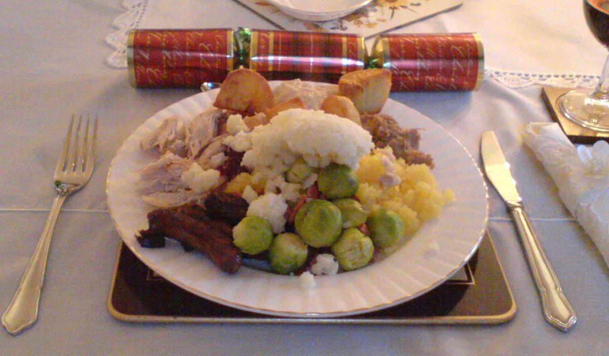Cena de navidad típica Reino Unido