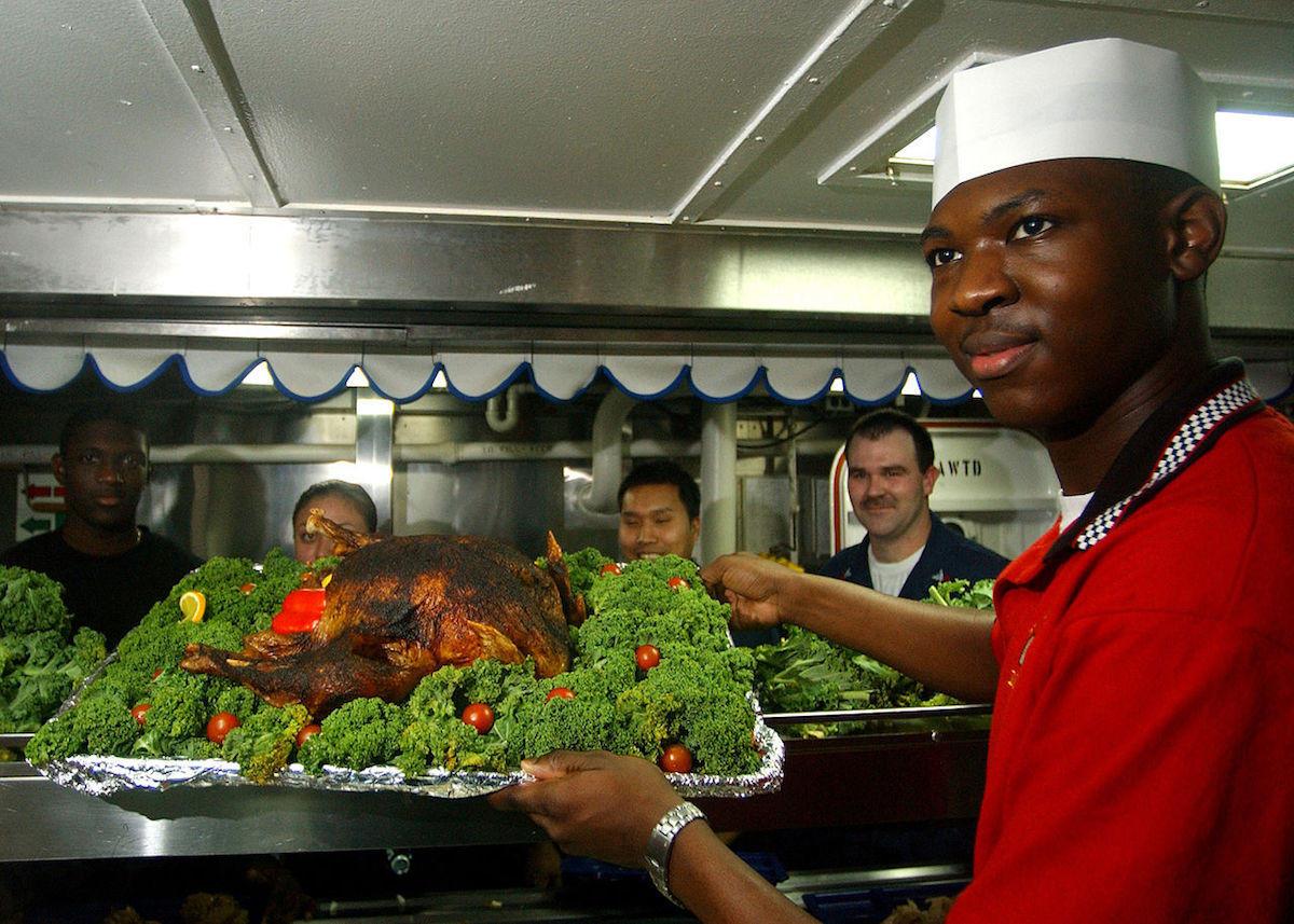 Pavo al horno en Navidad