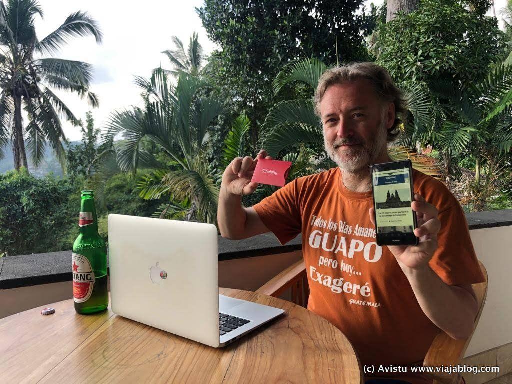 Con la Tarjeta HolaFly en Indonesia