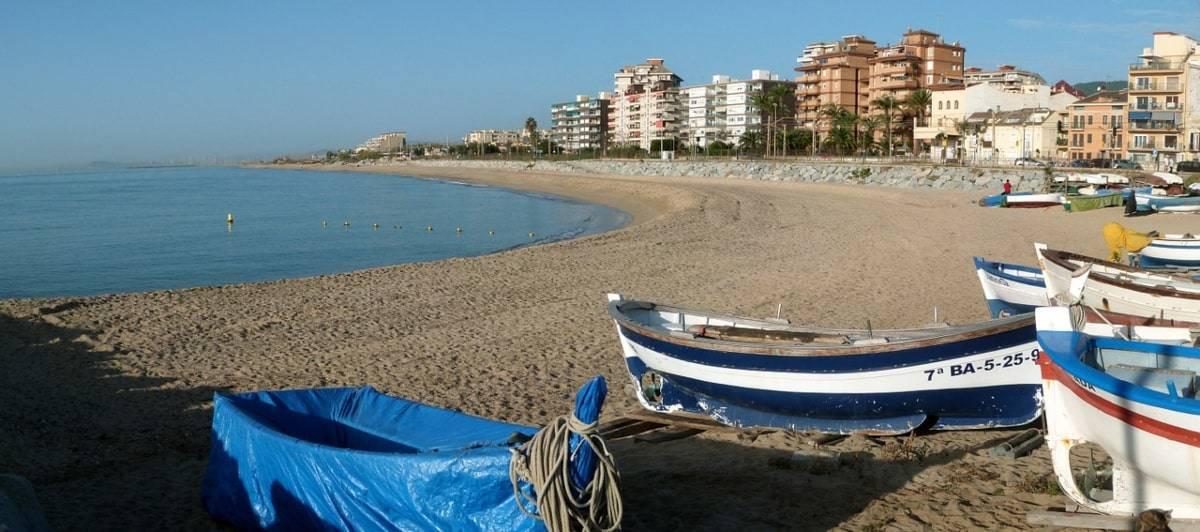 playa vilassar tren Barcelona