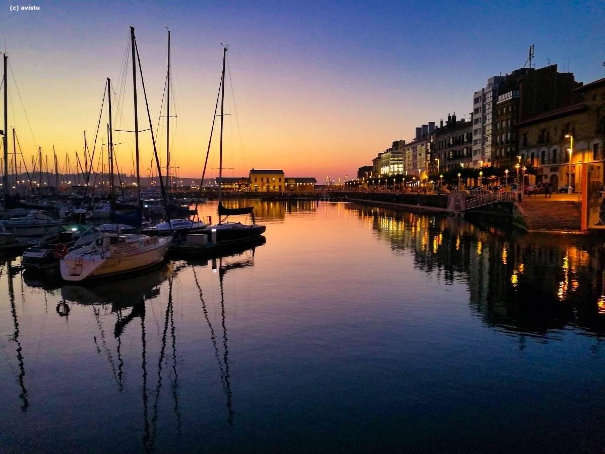 Puerto Deportivo de Gijón en Asturias