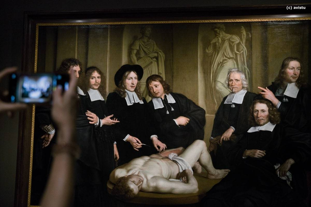 """Lección de anatomía del Dr. Nicolaes Tulp"", Rembrand, 1632, Exposición Temporal Museo Thyssen Bornemisza"