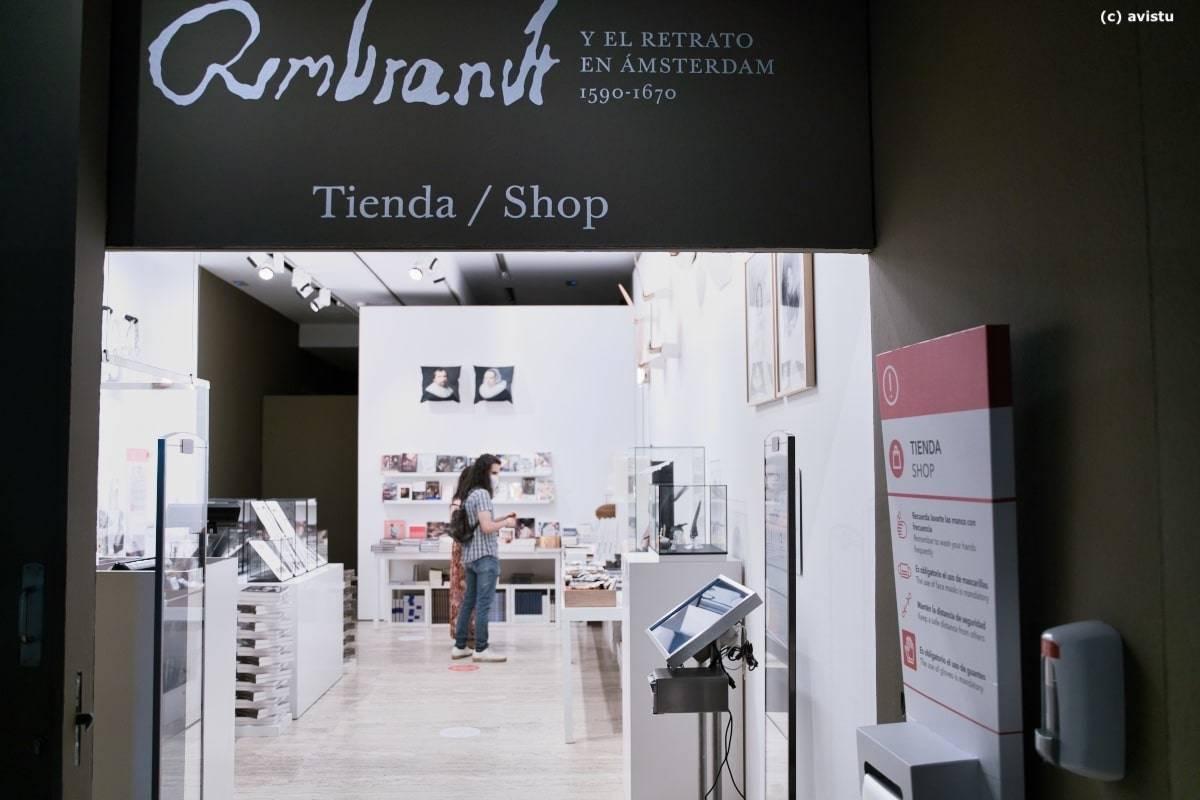 Tienda de la exposición temporal de Rembrandt, Museo Thyssen Bornemisza