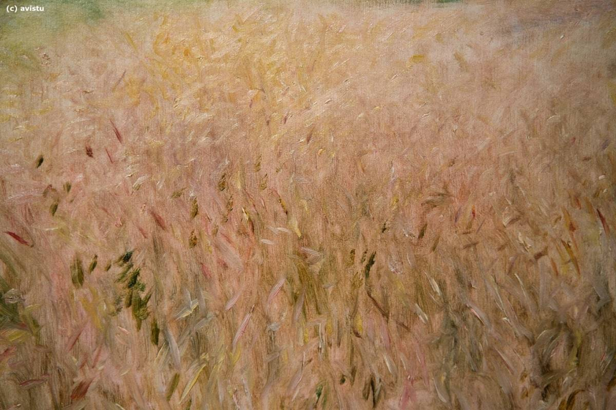 """Campo de Trigo"", Pierre-Auguste Renoir, detalle, Museo Thyssen Bornemisza"