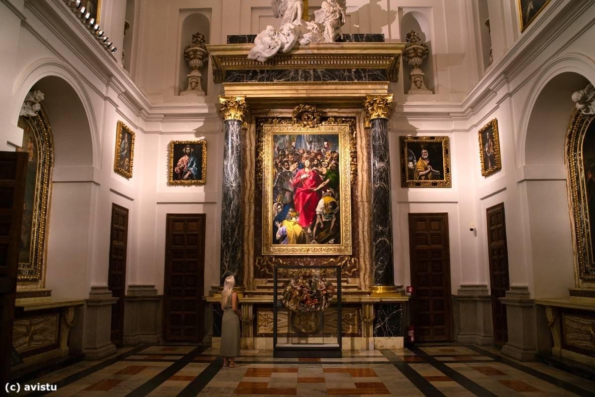 """""""El Expolio"""" (El Greco, 1587) en la Catedral de Toledo"""