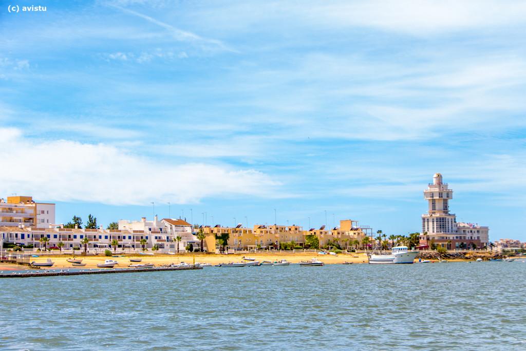 Isla Cristina desde el Río Carreras
