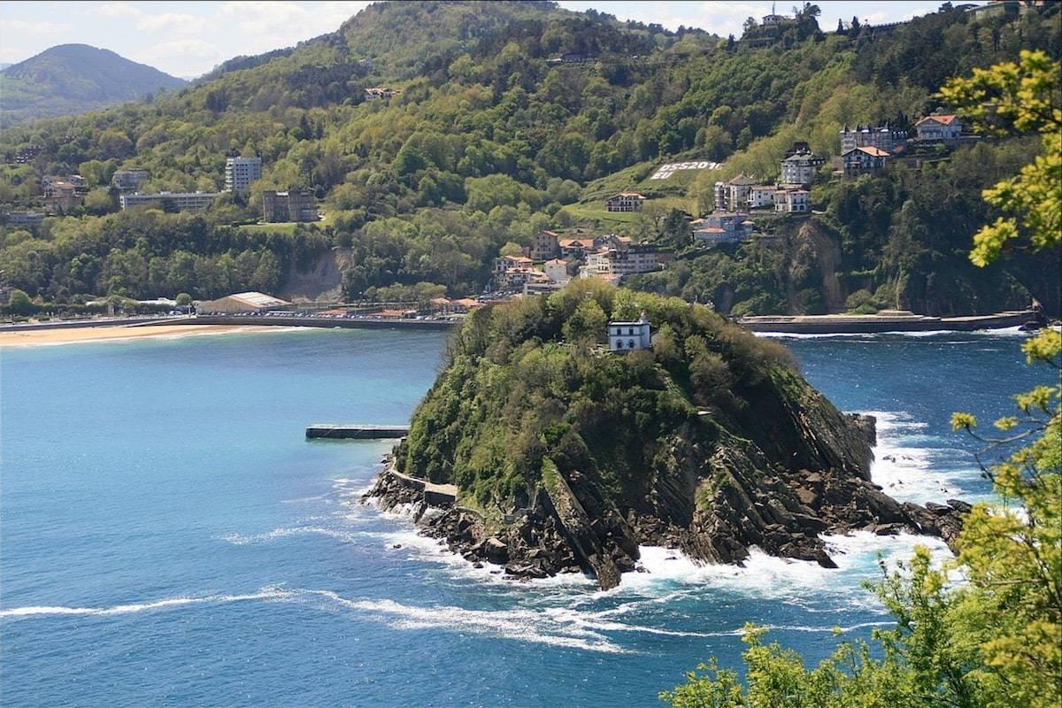 Isla Santa Clara San Sebastián desde Monte Urgull