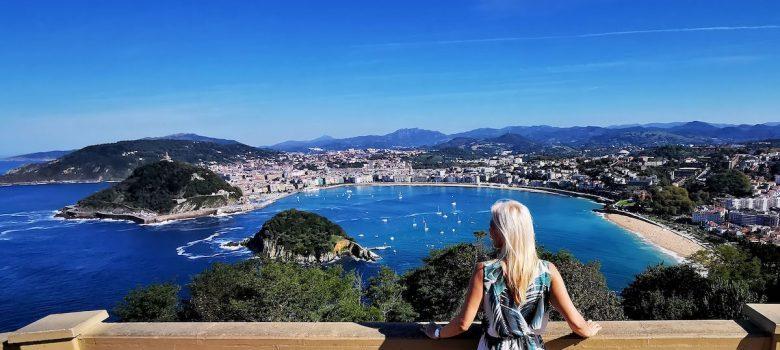 San Sebastián y la Concha desde el Mirador del Monte Igueldo