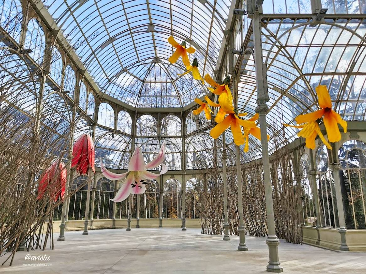 Exposición Flores Gigantes, Palacio de Cristal, Madrid