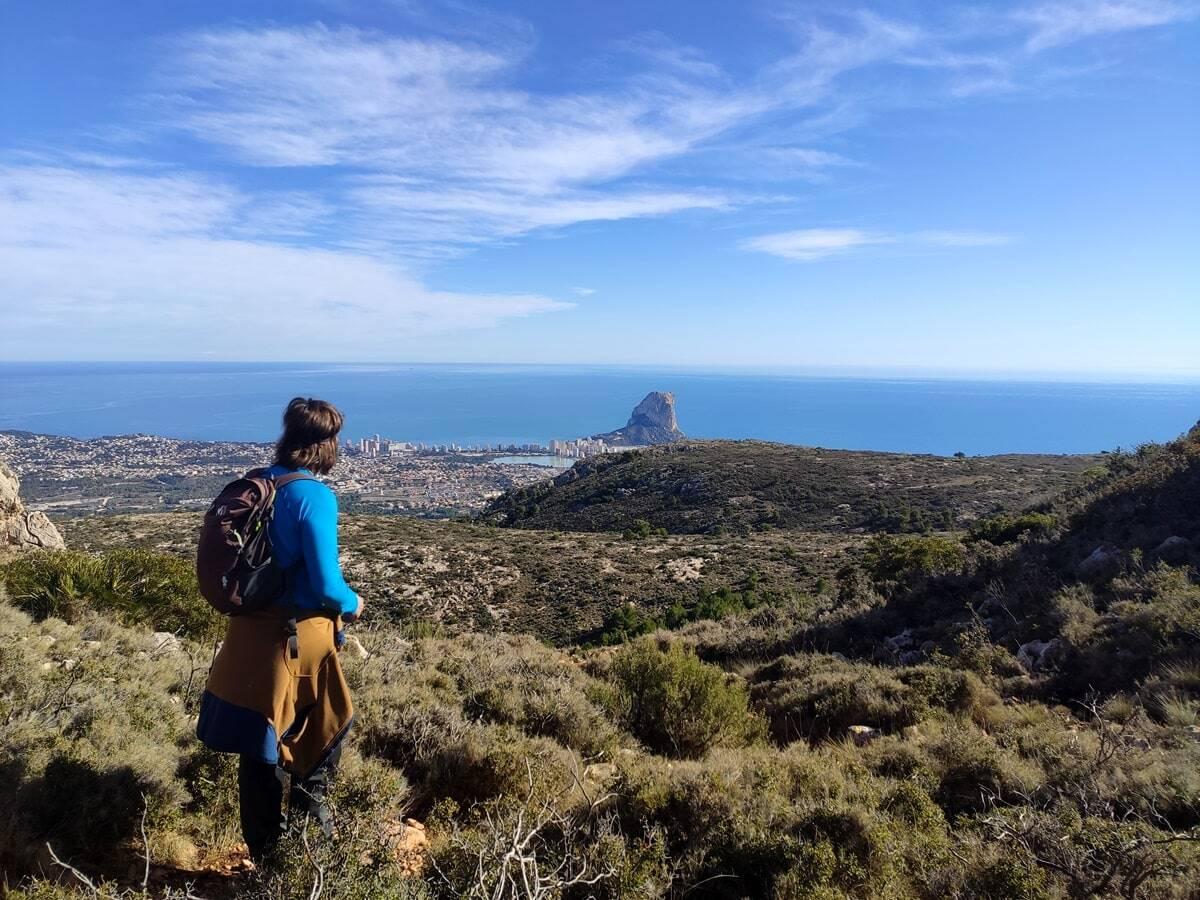 Vistas de Calpe Ruta de la Sierra de Ortà