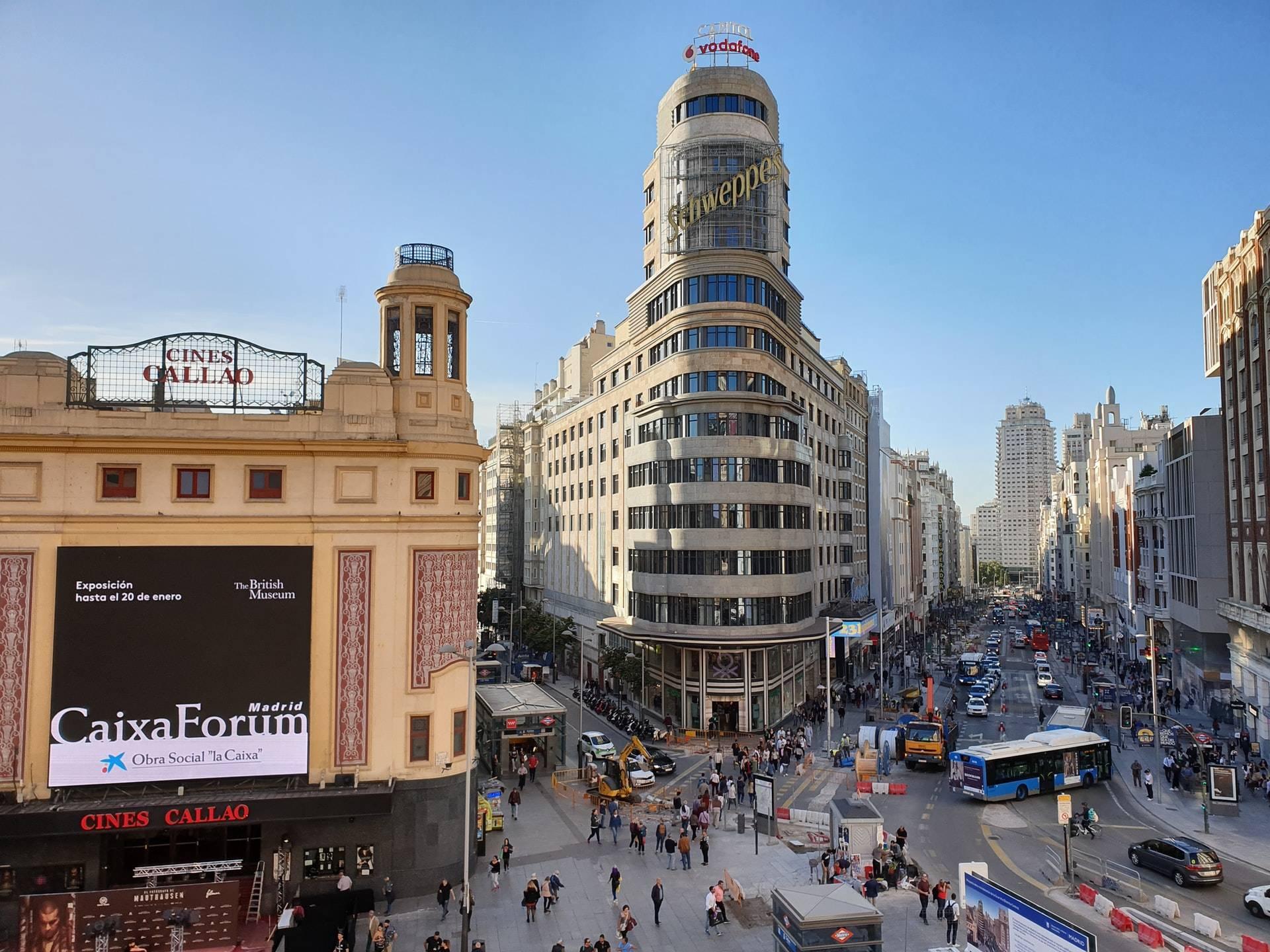 Plaza de Callao y Gran Vía de Madrid