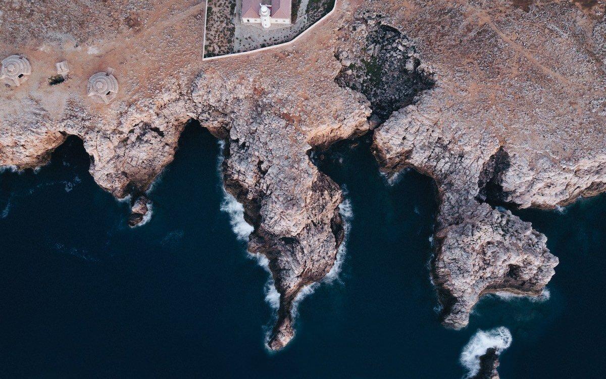 Faro, barracas y Punta Nati, Ciudadela, Menorca