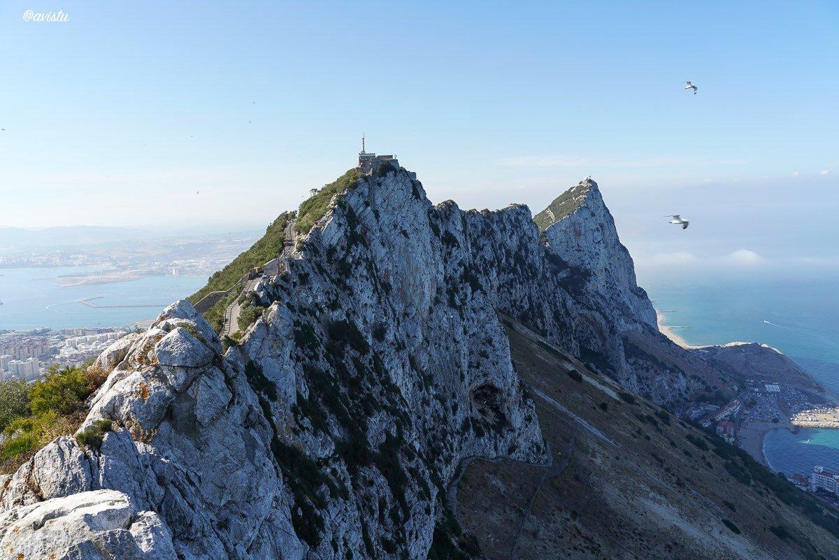 En lo alto del Peñón de Gibraltar