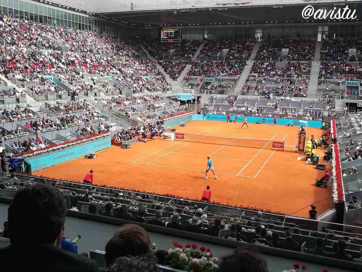 Rafa Nadal en la última edición del Mutua Madrid Open