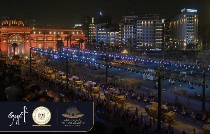 desfile faraones El Cairo