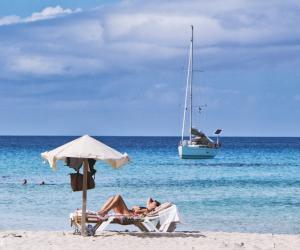 Playa en Formentera, Baleares, España