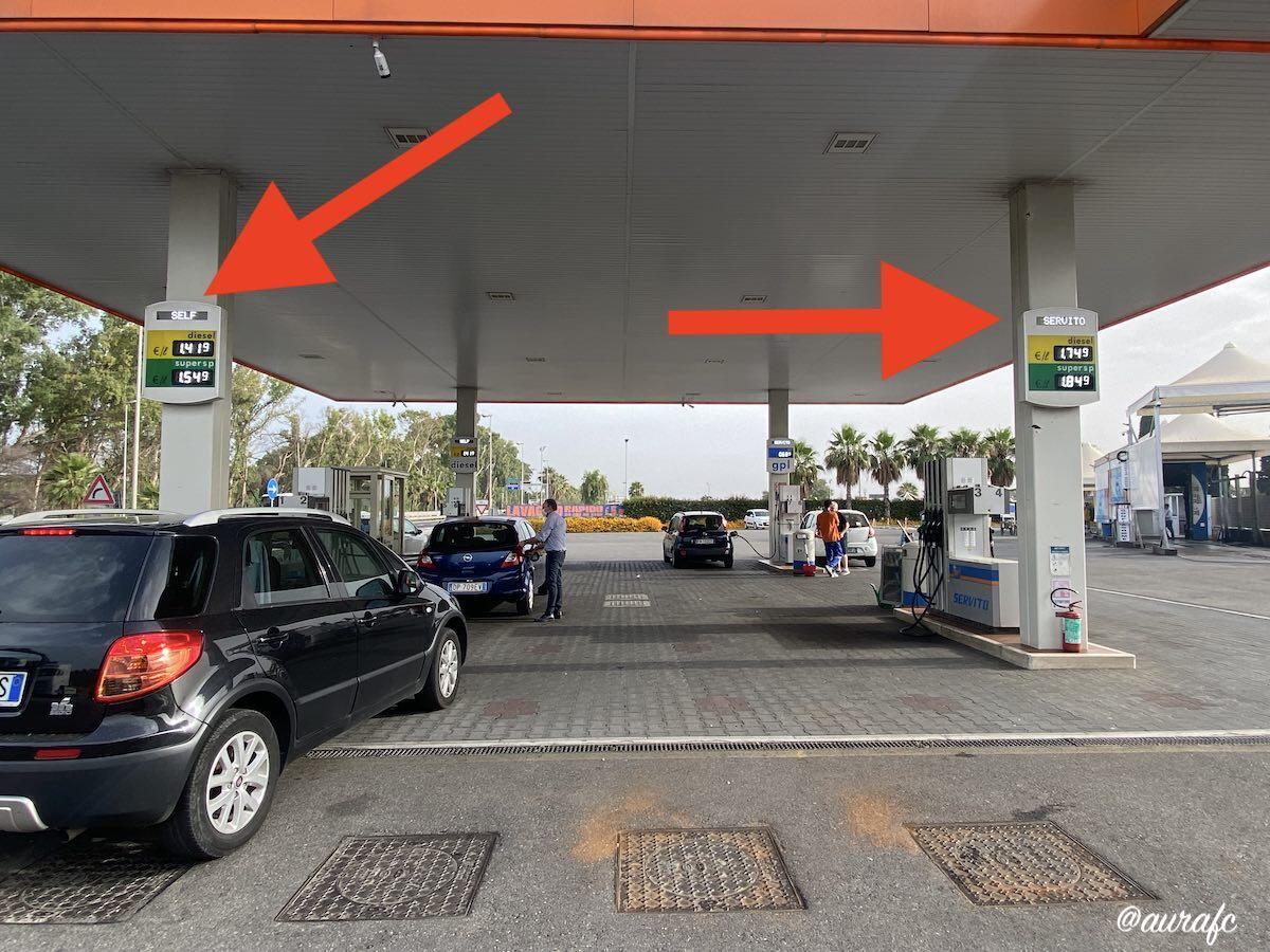 Gasolinera en Sicilia