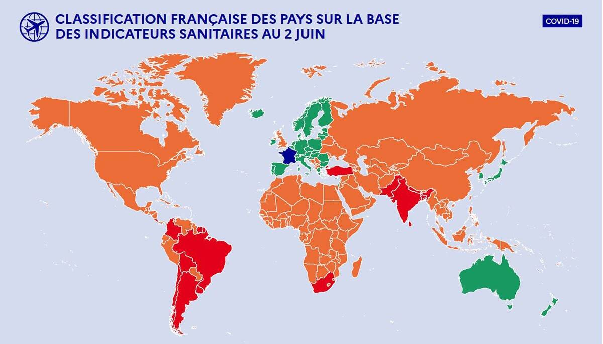 mapa viaje españa francia covid