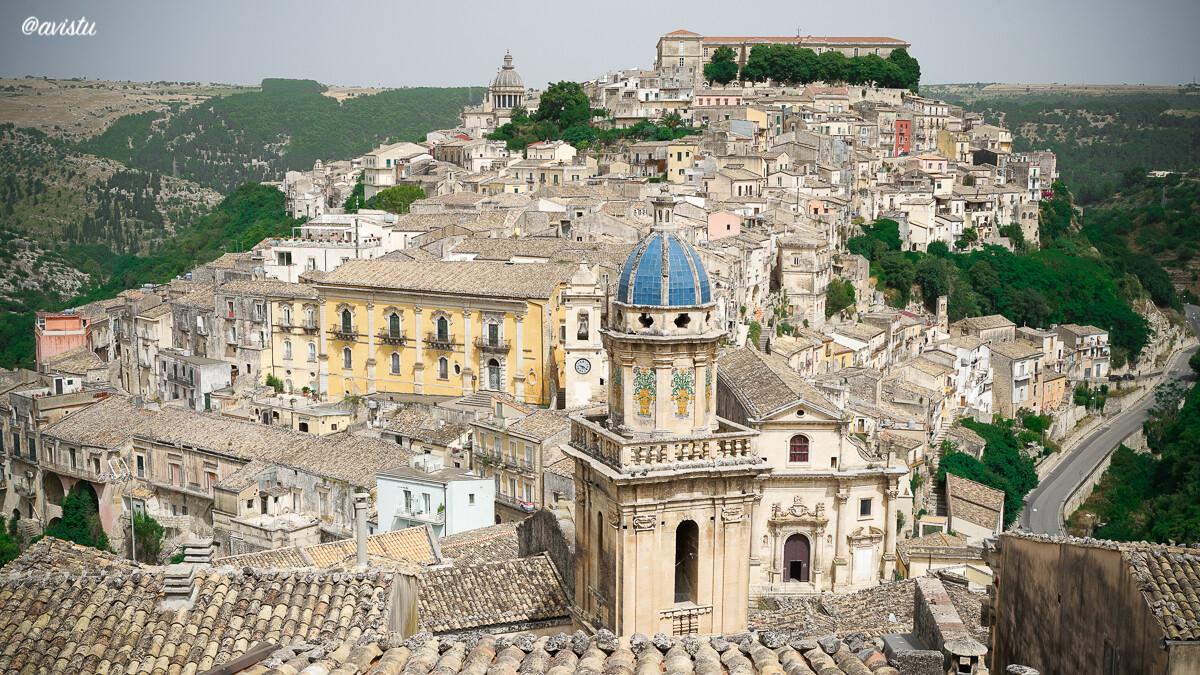Vista panorámica de Ragusa, Sicilia
